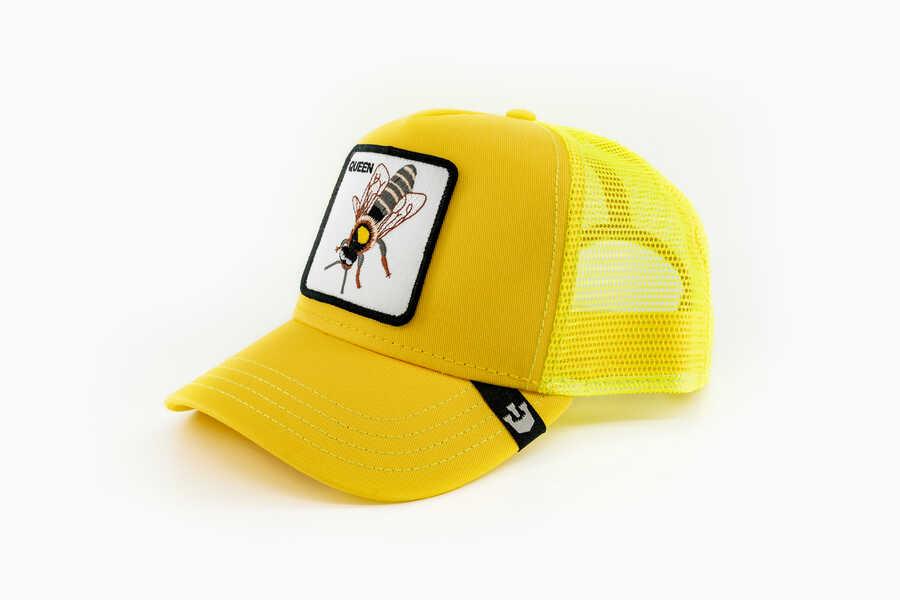 Goorin Bros - Goorin Bros Queen Be (Arı Figürlü) Sarı Şapka (1)