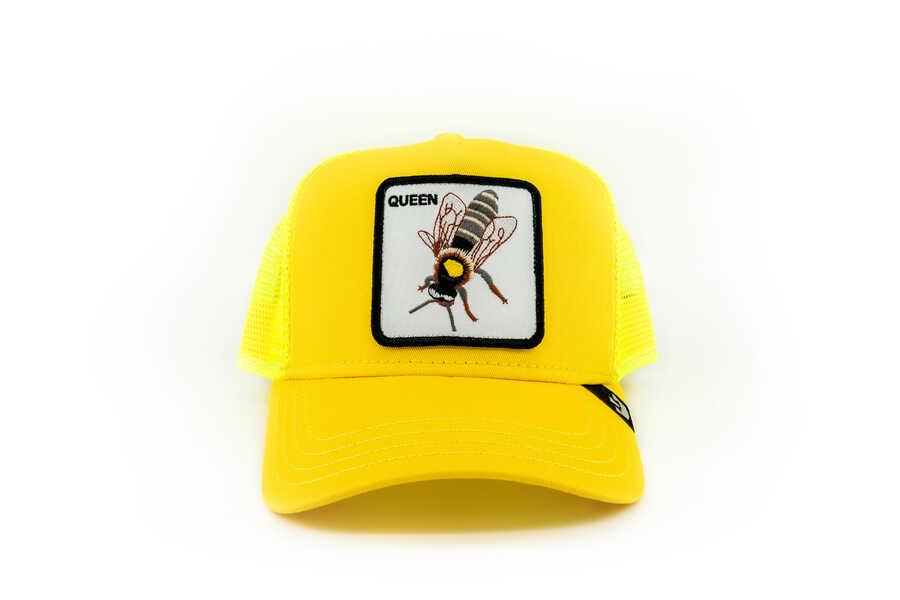 Goorin Bros - Goorin Bros Queen Be (Arı Figürlü) Sarı Şapka