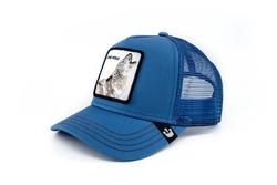 Goorin Bros Strong Wolf (Kurt Figürlü) Mavi Şapka - Thumbnail