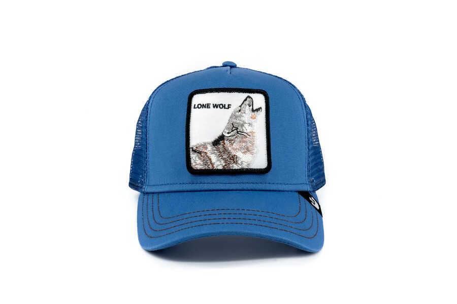 Goorin Bros - Goorin Bros Strong Wolf (Kurt Figürlü) Mavi Şapka
