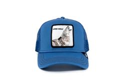 Goorin Bros - Goorin Bros Strong Wolf (Kurt Figürlü) Mavi Şapka (Thumbnail - )