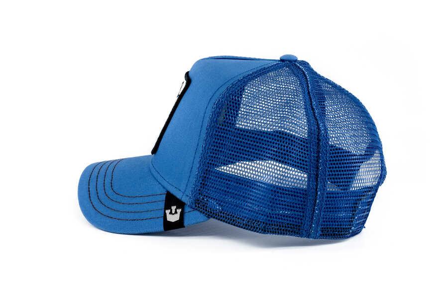 Goorin Bros Strong Wolf (Kurt Figürlü) Mavi Şapka
