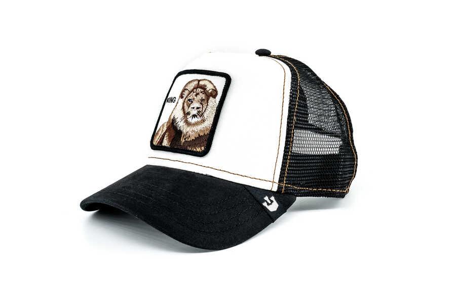 Goorin Bros - Goorin Bros King (Aslan Figür) Siyah Beyaz Şapka (1)