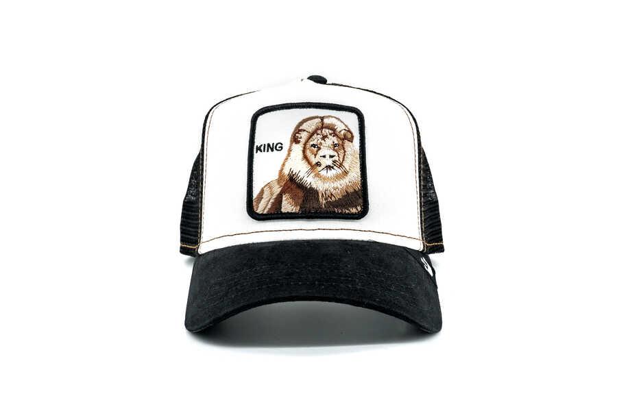 Goorin Bros - Goorin Bros King (Aslan Figür) Siyah Beyaz Şapka