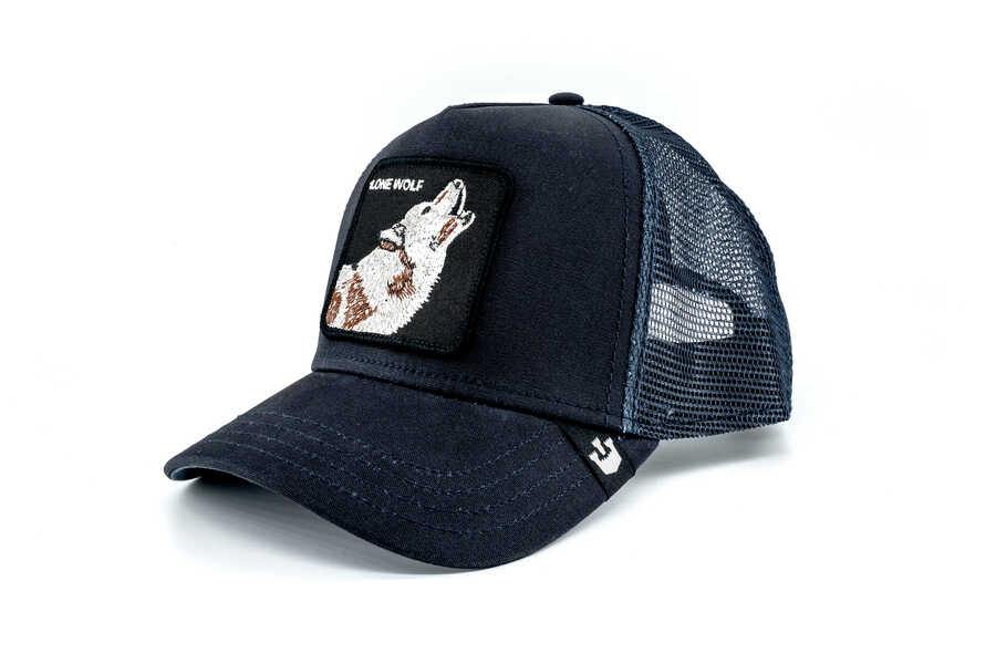 Goorin Bros - Goorin Bros Wolf (Kurt Figürlü) Lacivert Şapka (1)