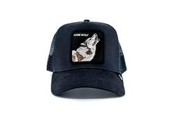 Goorin Bros - Goorin Bros Wolf (Kurt Figürlü) Lacivert Şapka (Thumbnail - )