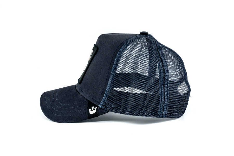 Goorin Bros Wolf (Kurt Figürlü) Lacivert Şapka