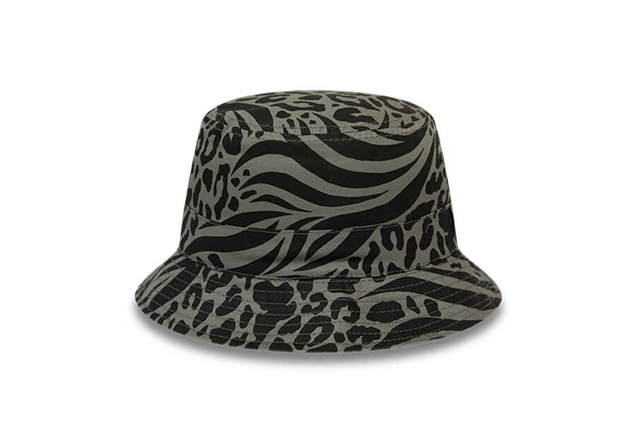 New Era - 12380834 PATTERNED REVERSEABLE BUCKET NE BLK (1)