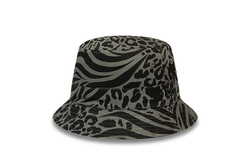 New Era - 12380834 PATTERNED REVERSEABLE BUCKET NE BLK (Thumbnail - )