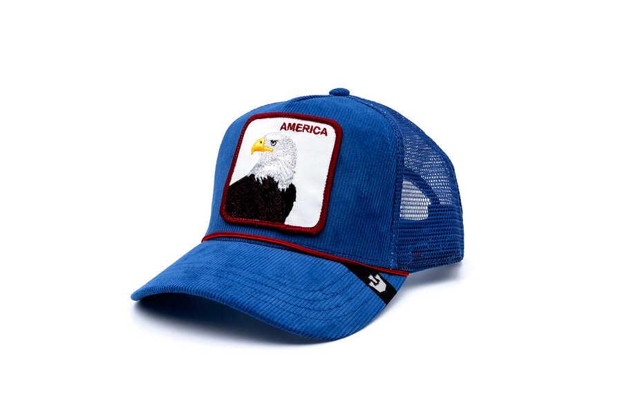 Goorin Bros - Goorin Bros America For Real ( Kadife Kartal ) Mavi Şapka 101-2708 (1)