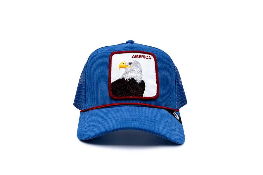 Goorin Bros - Goorin Bros America For Real ( Kadife Kartal ) Mavi Şapka 101-2708