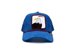 Goorin Bros - Goorin Bros America For Real ( Kadife Kartal ) Mavi Şapka 101-2708 (Thumbnail - )