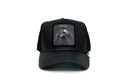Goorin Bros - Goorin Bros Deadly Encounter ( Karadul Örümcek Figürlü ) Deri Görünümlü Şapka 101-0821 (Thumbnail - )