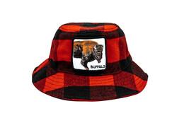 Goorin Bros - Goorin Bros Extrea Buff ( Bufalo Figür )105-0216 Bucket (Thumbnail - )