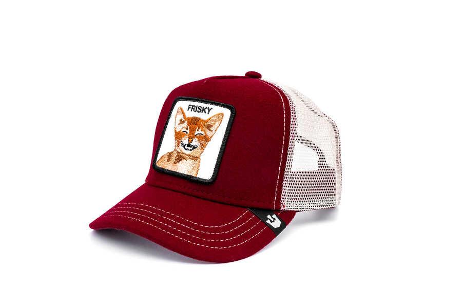 Goorin Bros - Goorin Bros Frisky Whisky ( Kedi Figürlü ) Kırmızı Şapka 101-0834 (1)