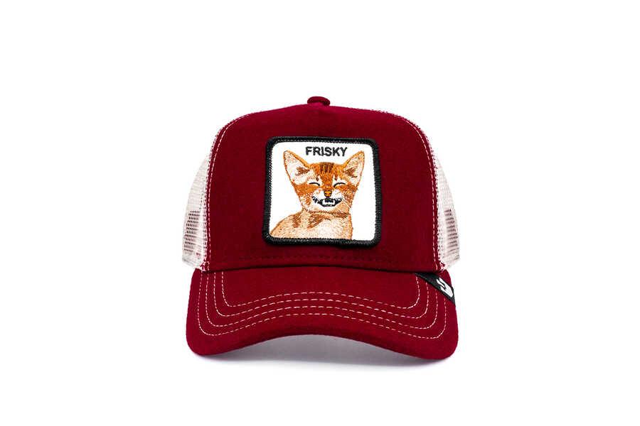 Goorin Bros - Goorin Bros Frisky Whisky ( Kedi Figürlü ) Kırmızı Şapka 101-0834
