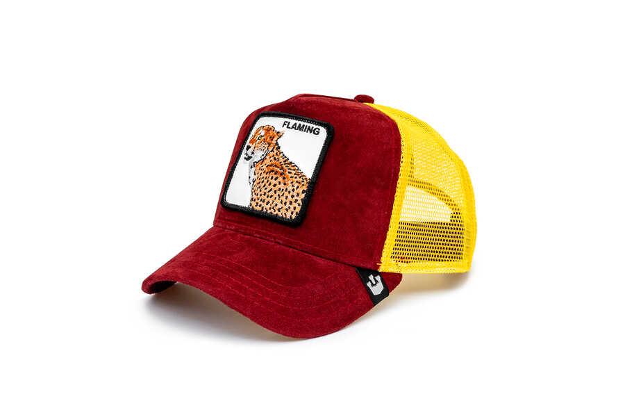 Goorin Bros - Goorin Bros Hot Cheetah ( Kaplan Figürlü) Deri Görünümlü Şapka 101-0871 (1)