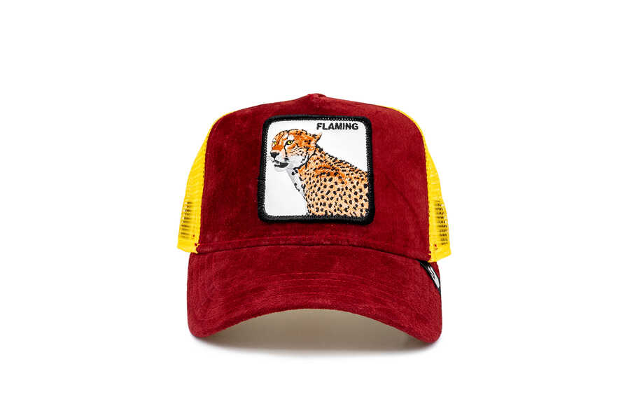 Goorin Bros - Goorin Bros Hot Cheetah ( Kaplan Figürlü) Deri Görünümlü Şapka 101-0871