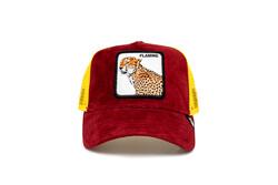 Goorin Bros - Goorin Bros Hot Cheetah ( Kaplan Figürlü) Deri Görünümlü Şapka 101-0871 (Thumbnail - )