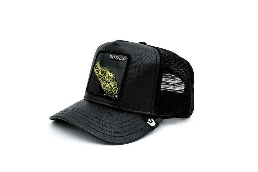 Goorin Bros - Goorin Bros. Leaping Lizards ( Timsah Figürlü ) Deri Görünümlü Şapka 101-0825 (1)