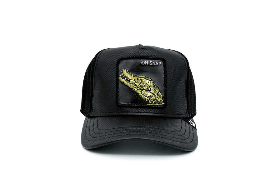 Goorin Bros - Goorin Bros. Leaping Lizards ( Timsah Figürlü ) Deri Görünümlü Şapka 101-0825