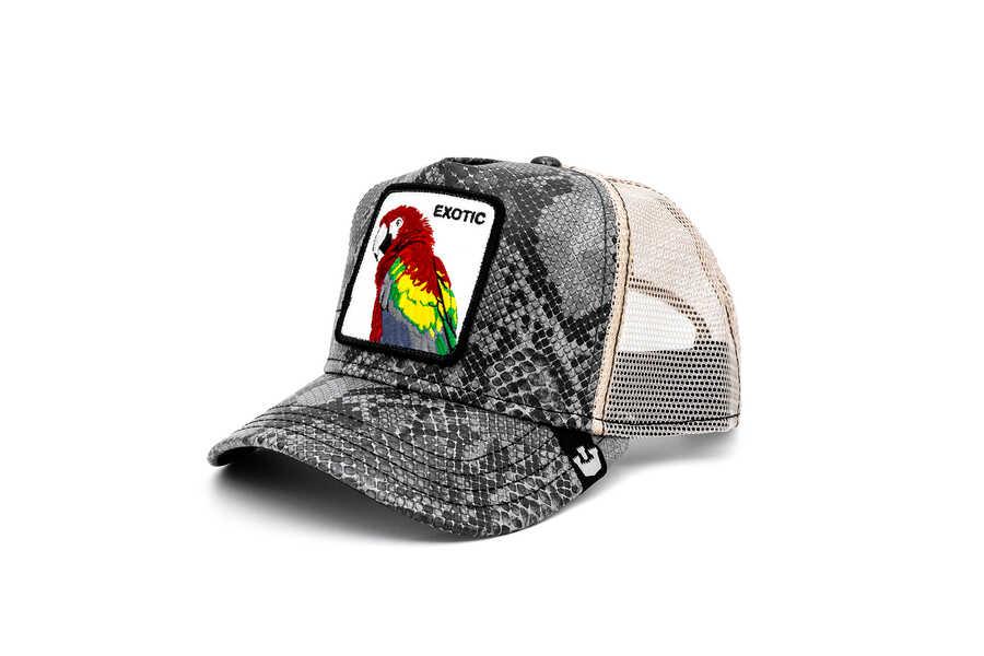 Goorin Bros - Goorin Bros Margaritaville ( Papağan Figürlü ) Deri Görünümlü Şapka 101-0868 (1)