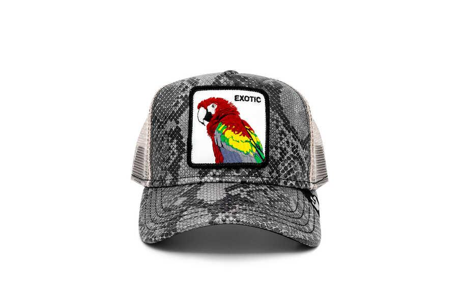 Goorin Bros - Goorin Bros Margaritaville ( Papağan Figürlü ) Deri Görünümlü Şapka 101-0868