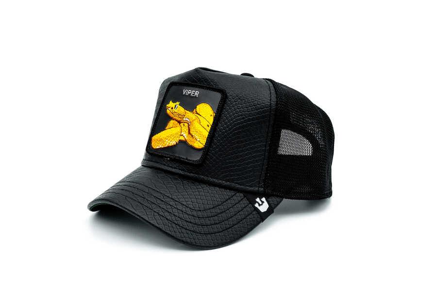 Goorin Bros - Goorin Bros Night Viper ( Yılan Figürlü) Deri Görünümlü Şapka 101-0823 (1)