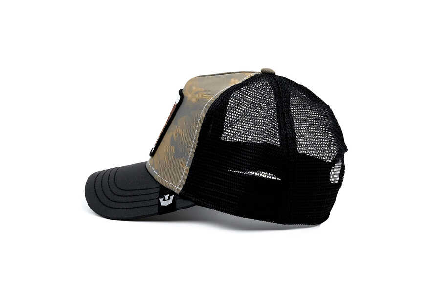 Goorin Bros Pride Boss (Kaplan Figür) Haki Şapka