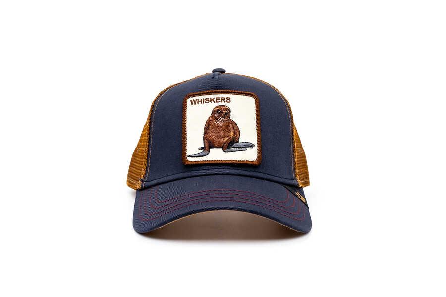 Goorin Bros - Goorin Bros Sea Dog (Fok Figürlü) Lacivert Şapka