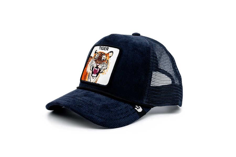 Goorin Bros - Goorin Bros Tiger Rage Lacivert Kadife Şapka (1)