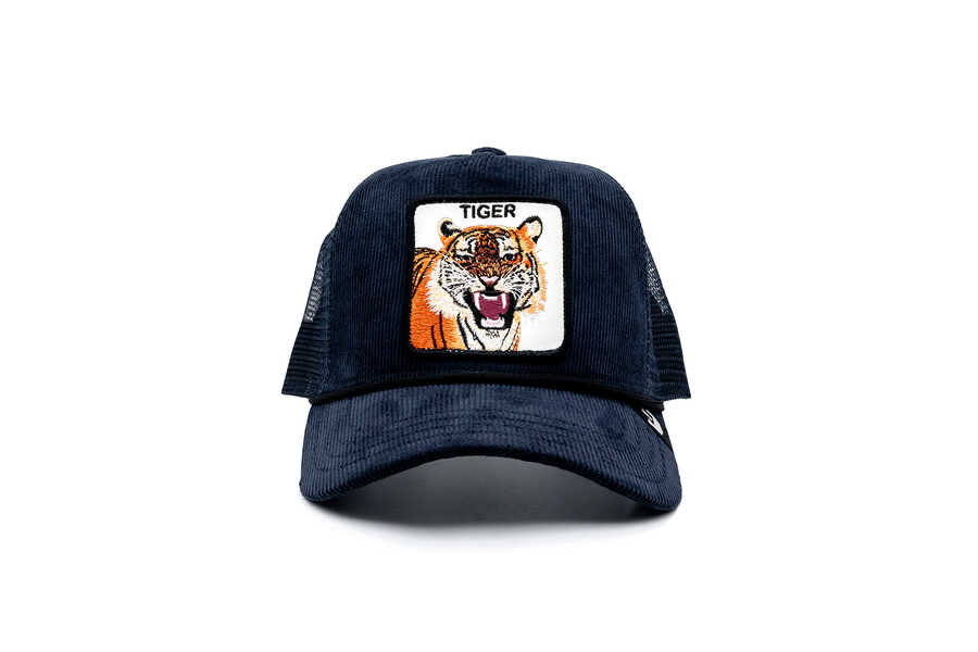 Goorin Bros - Goorin Bros Tiger Rage Lacivert Kadife Şapka