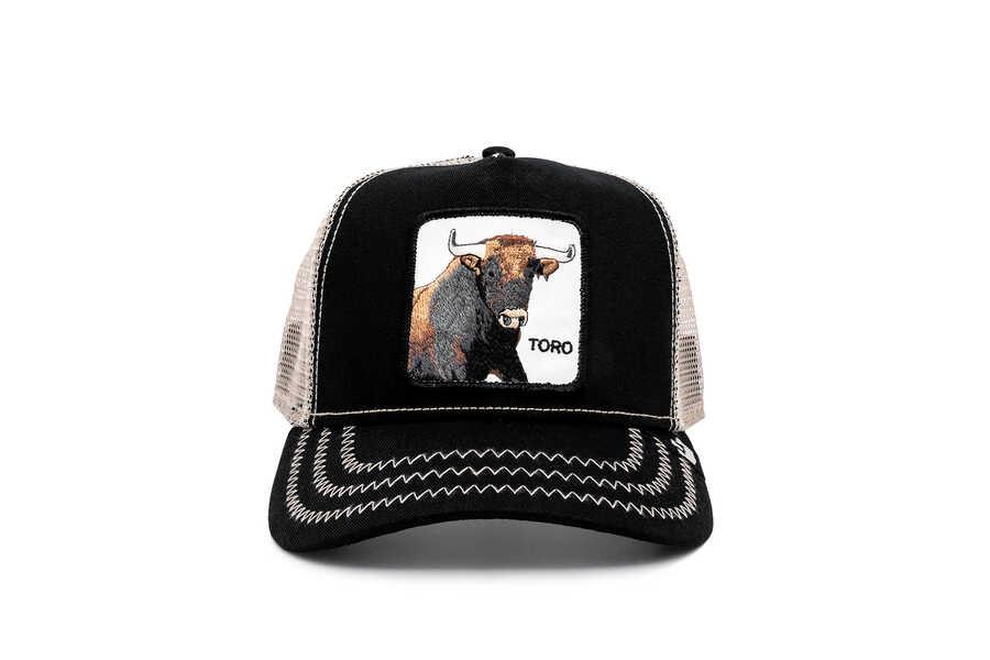 Goorin Bros - Goorin Bros Thatt's Bull ( Boğa Firgürlü) Siyah Şapka 101-1220