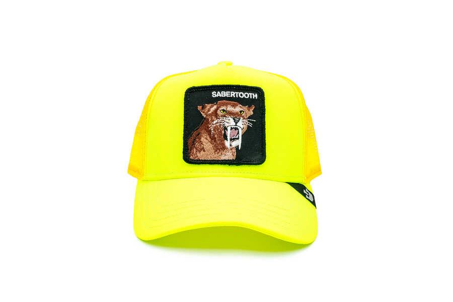 Goorin Bros - Goorin Bros Tootache ( Kaplan Figürlü) Sarı Şapka 101-0941
